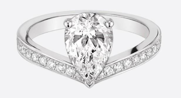 bague diamant solitaire luxe femme chaumet argent luxymind produits et services de luxe et de. Black Bedroom Furniture Sets. Home Design Ideas