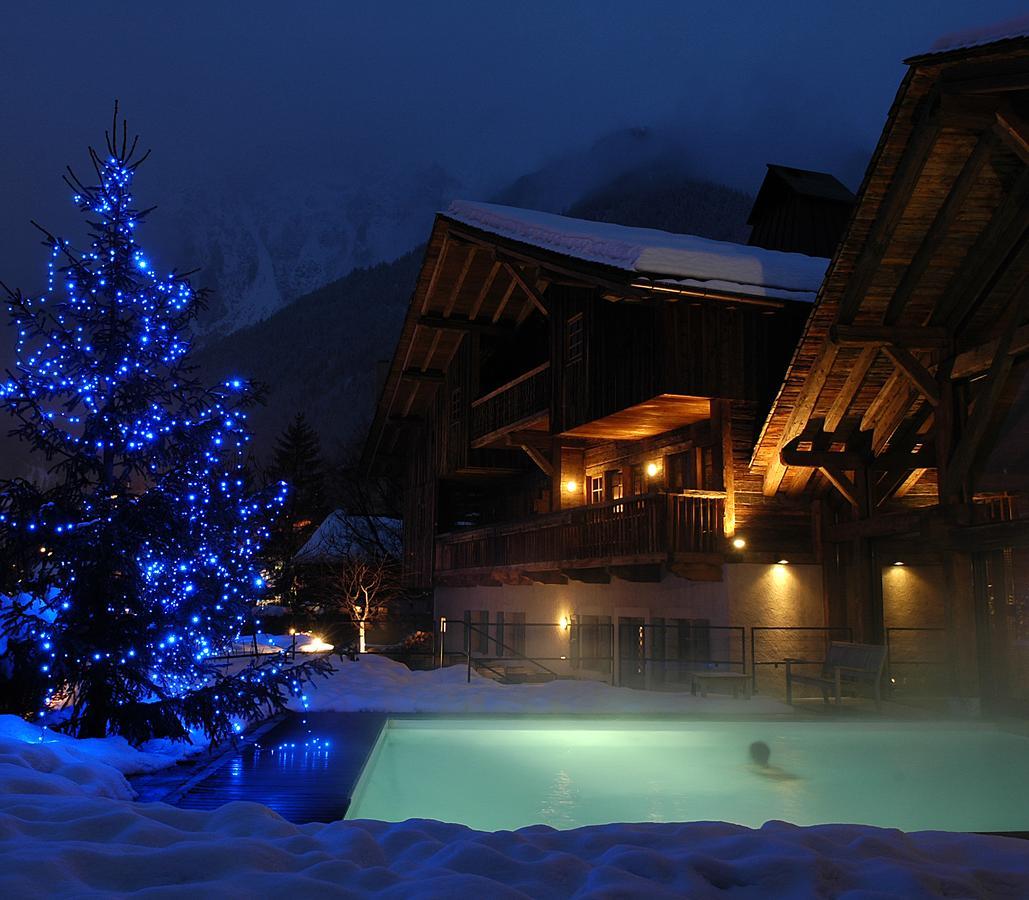 hotel luxe chamonix hameau albert premier spa piscine vue montagne neige