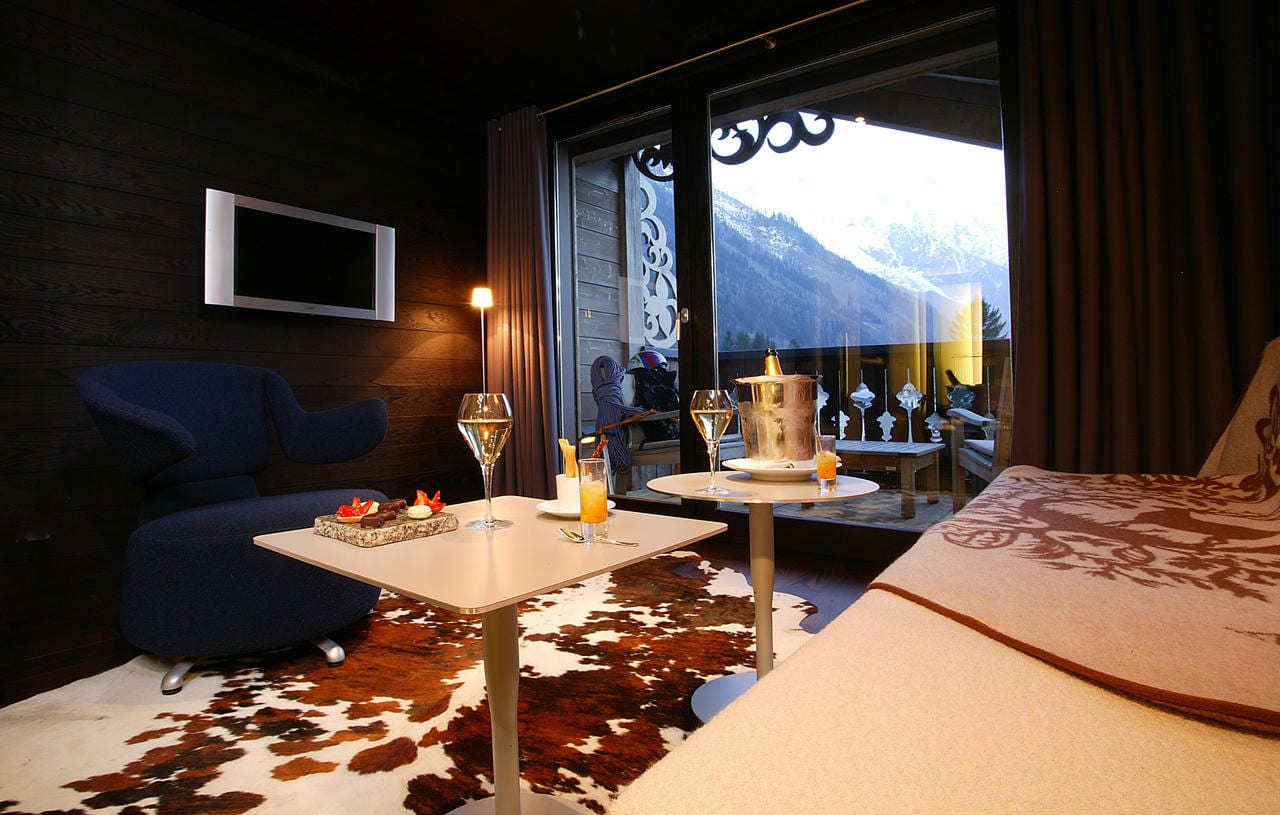 hotel luxe chamonix hameau albert premier spa piscine vue montagne