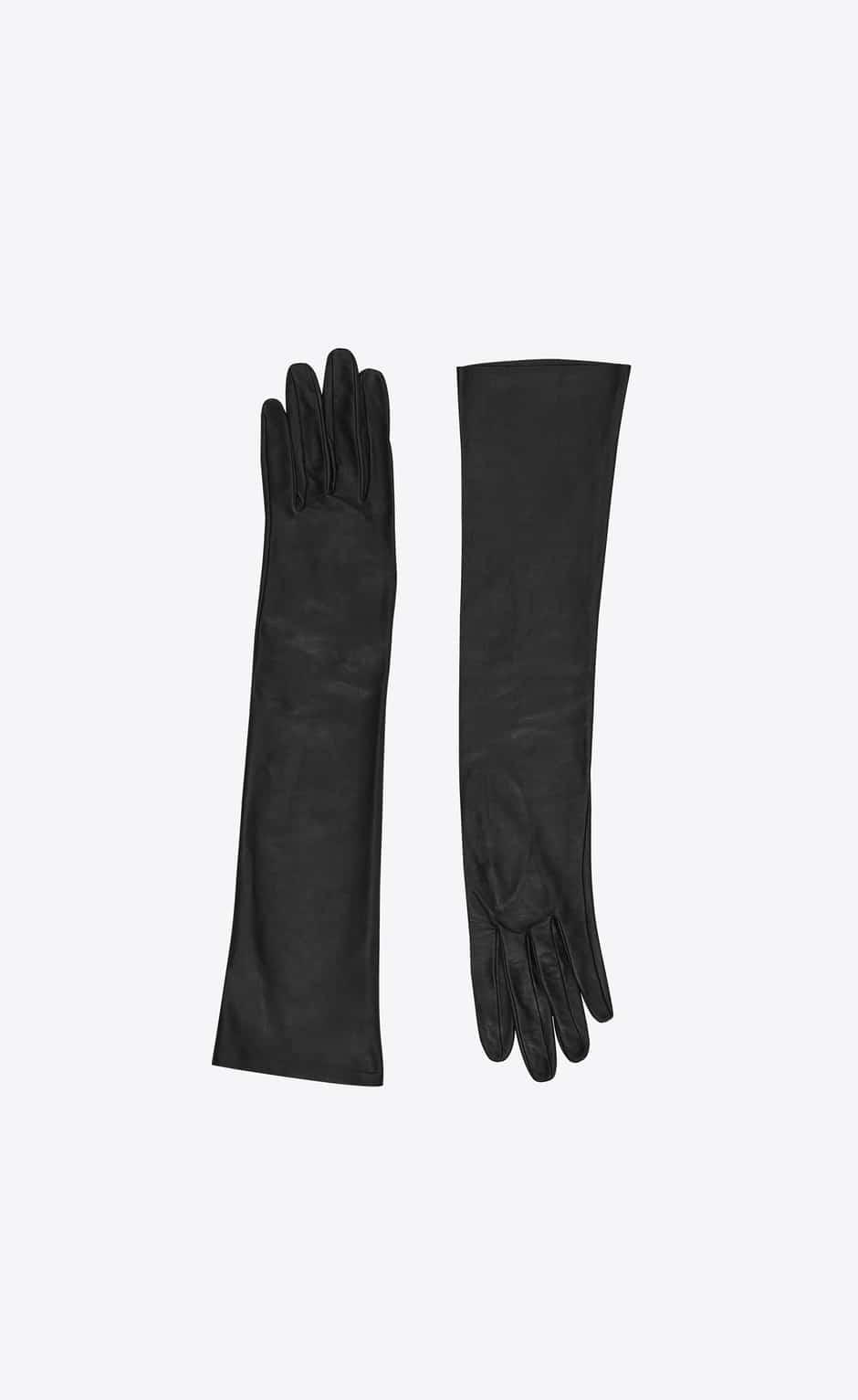 gants yves saint laurent luxe cuir noir
