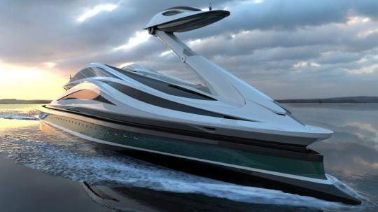 Le yacht du designer Lazzarini en forme de cygne : Avanguardia