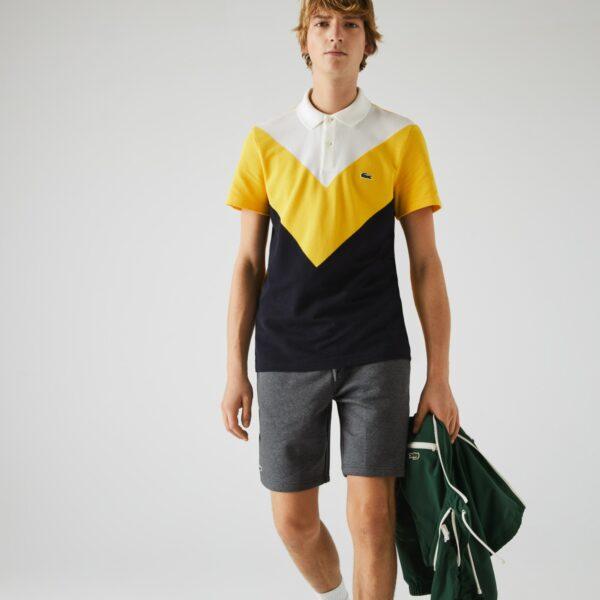 Short Tennis Lacoste SPORT en molleton uni Taille 11 – 6XL Gris Chiné