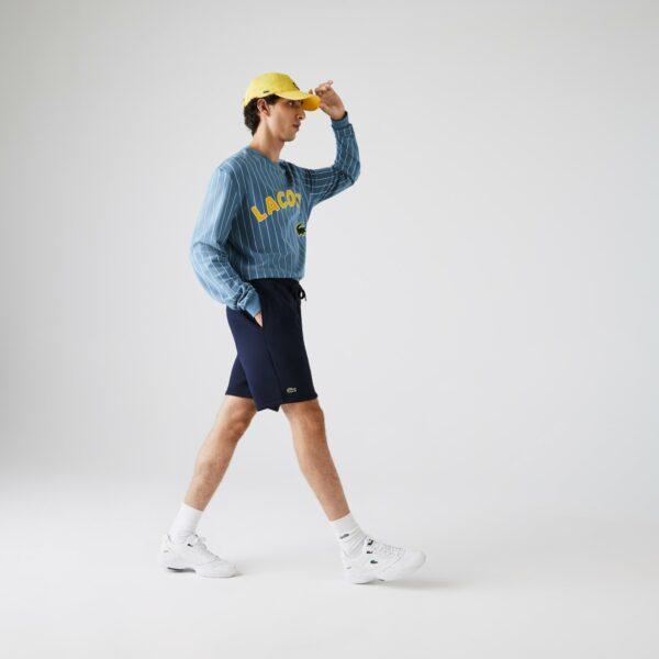 Short Tennis Lacoste SPORT en molleton uni Taille 5 – L Bleu Marine