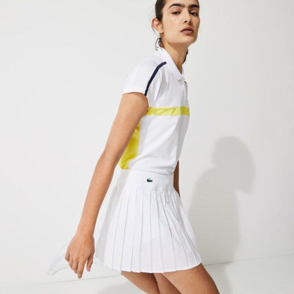 Jupe plissée Tennis Lacoste SPORT en maille technique Taille 44 Blanc